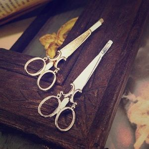 Anthropologie scissor hair clips